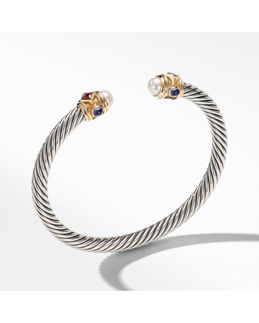 David Yurman - Metallic Renaissance Bracelet With Pearls, Rhodalite Garnet And 14k Gold, 5mm - Lyst