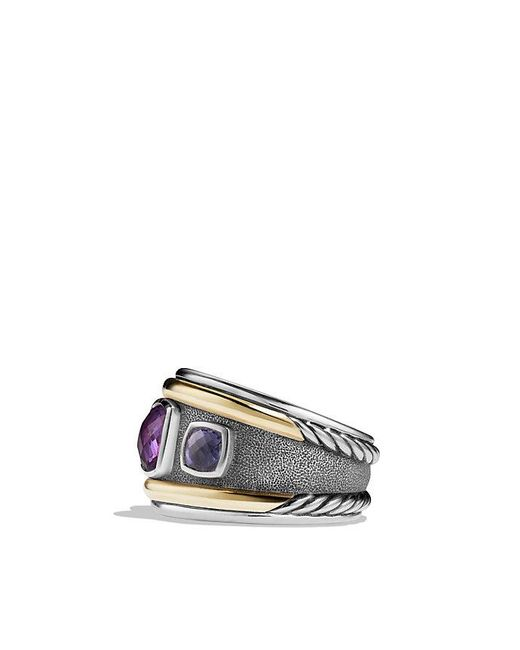 David Yurman - Metallic Renaissance Ring With Amethyst, Iolite And 14k Gold - Lyst