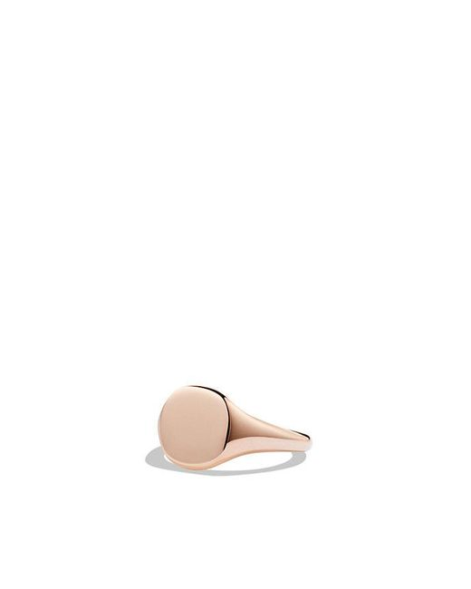 David Yurman - Dy Signature Mini Pinky Ring In 18k Rose Gold - Lyst