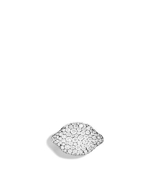 David Yurman - Petite Pavé Pinky Ring With Diamonds In 18k White Gold - Lyst