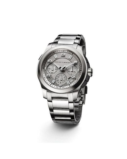David Yurman - Metallic Revolution 43.5mm Stainless Steel Chronograph Watch for Men - Lyst
