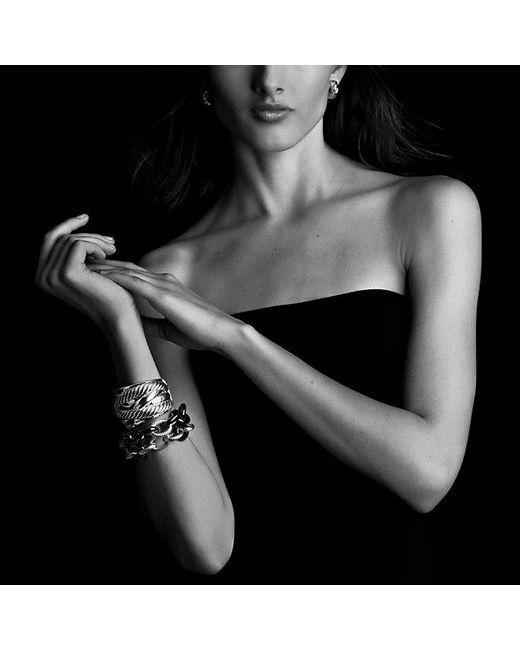 David Yurman | Extra-large Oval Link Bracelet With Black Ceramic | Lyst