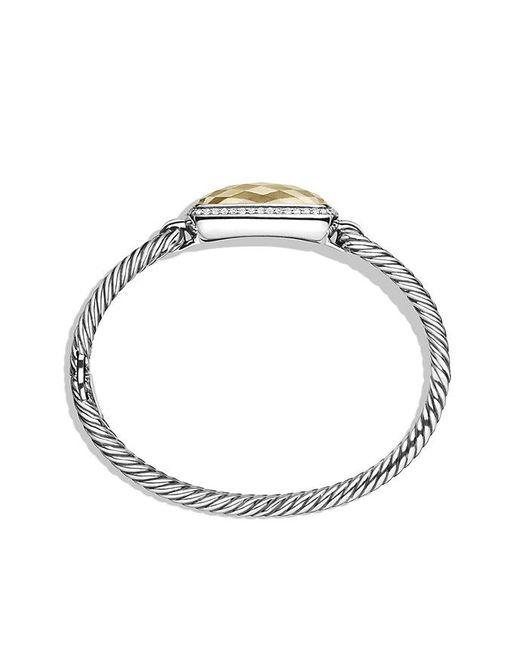 David Yurman | Metallic Albion Bracelet 18k Gold Dome And Diamonds, 12mm | Lyst