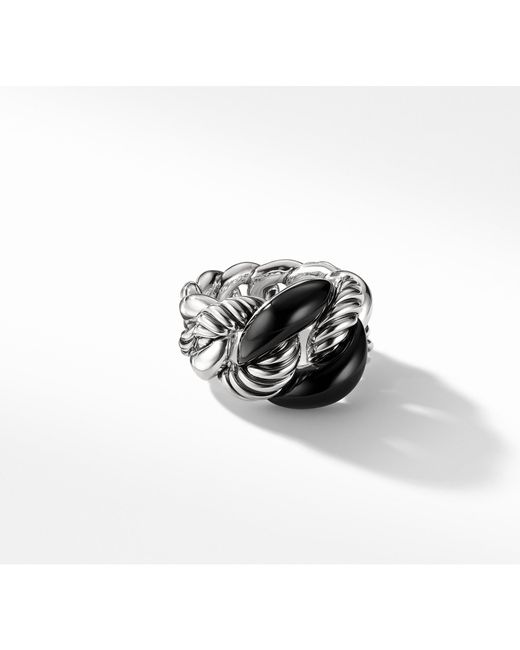 David Yurman - Belmont® Curb Link Ring With Black Onyx - Lyst