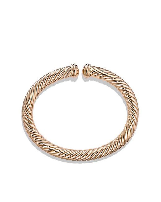 David Yurman | Pink Cable Spira Bracelet In 18k Rose Gold, 7mm | Lyst
