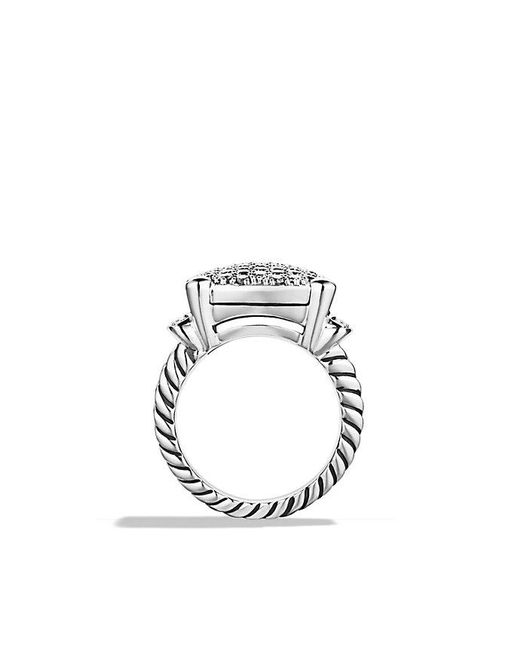 David Yurman | Metallic Wheaton Ring With Diamonds | Lyst