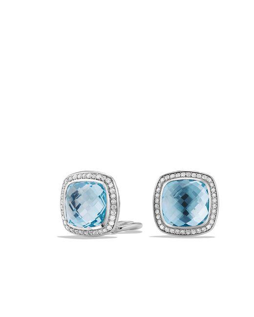 David Yurman - Albion® Earrings With Blue Topaz And Diamonds, 11mm - Lyst