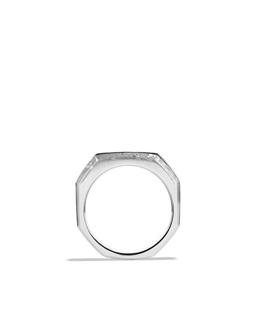 David Yurman | Metallic Fused Meteorite Signet Ring for Men | Lyst