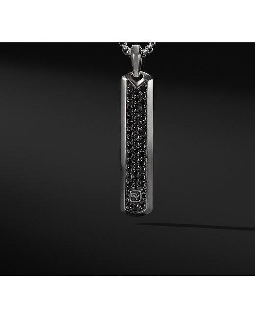 David Yurman - Pavé Tag With Black Diamonds for Men - Lyst