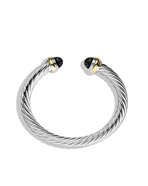 David Yurman | Cable Classics Bracelet With Black Onyx And 14k Gold, 7mm | Lyst