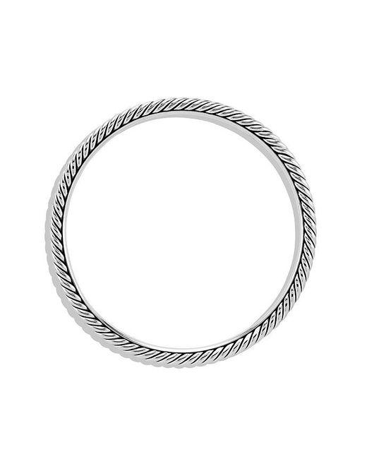 David Yurman   Gray Cable Classics Bangle, 4mm   Lyst