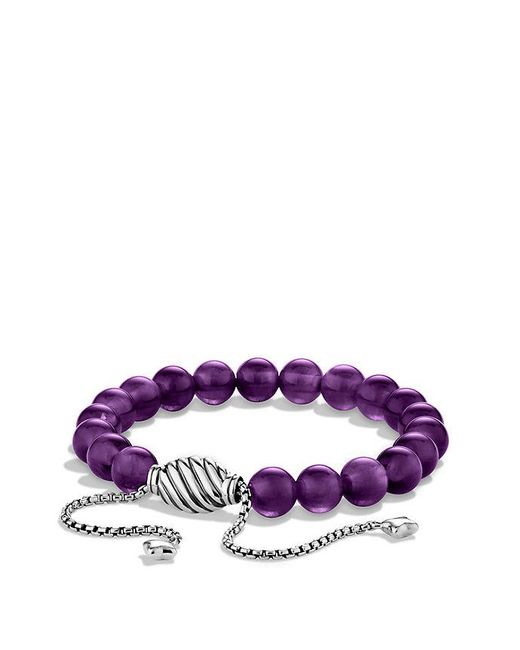 David Yurman | Metallic Spiritual Beads Bracelet With Amethyst | Lyst
