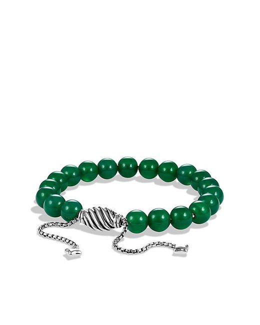 David Yurman | Spiritual Beads Bracelet With Green Onyx | Lyst