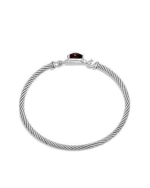 David Yurman | Metallic Petite Wheaton Bracelet With Garnet And Diamonds | Lyst