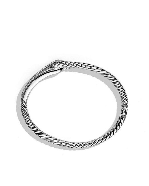 David Yurman | Metallic Labyrinth® Single-loop Bracelet With Diamonds, 10mm | Lyst
