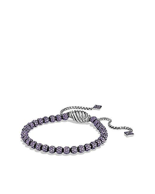 David Yurman | Petite Pavé Bracelet With Purple Sapphire | Lyst