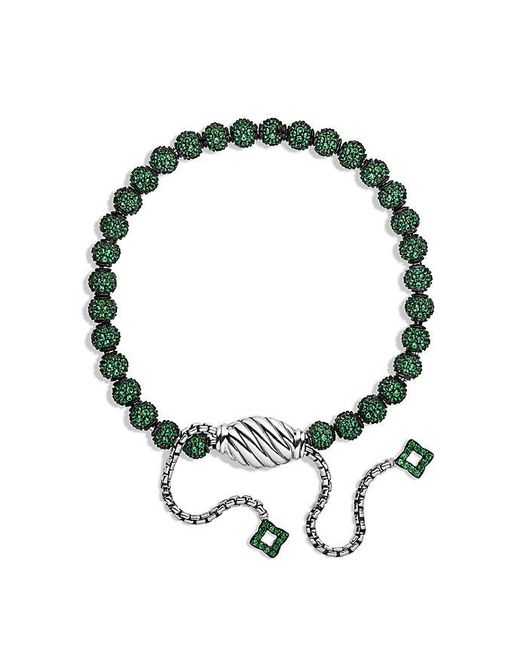 David Yurman | Green Petite Pavé Bracelet With Tsavorite | Lyst