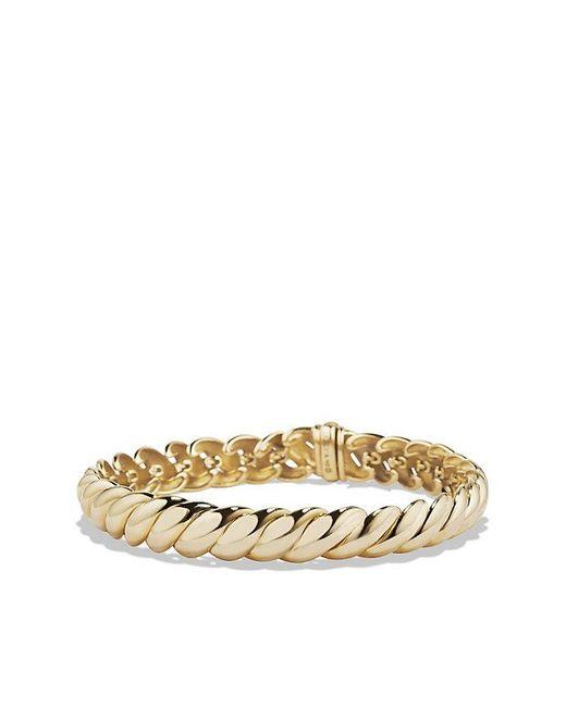 David Yurman | Metallic Hampton Cable Bracelet In 18k Gold. 8.5mm | Lyst