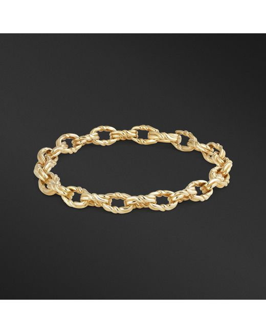 David Yurman - Metallic Continuance Small Twisted Cable Chain Bracelet In 18k Gold for Men - Lyst