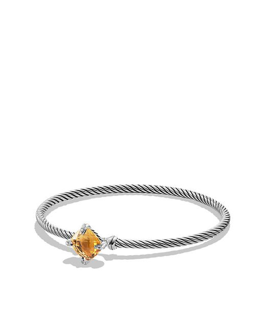 David Yurman | Metallic Chatelaine Bracelet With Citrine And Diamonds, 9mm | Lyst