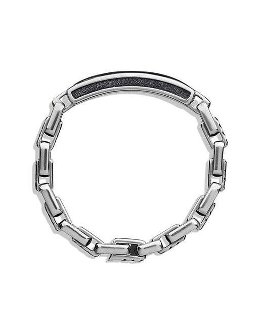 David Yurman | Modern Cable Id Bracelet With Black Onyx for Men | Lyst
