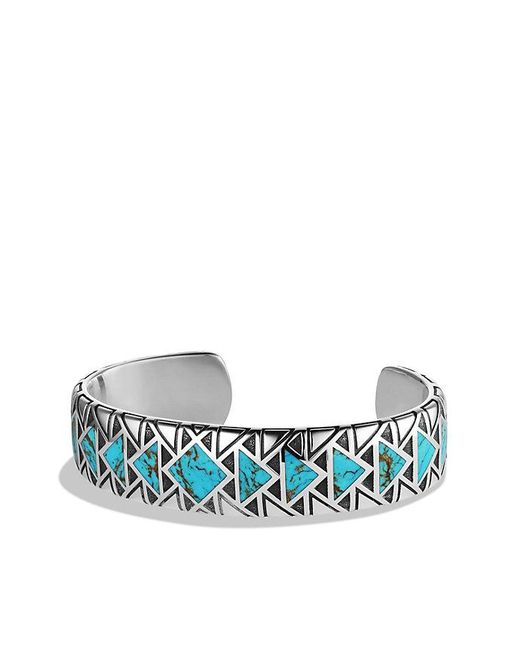 David Yurman | Blue Frontier Cuff Bracelet With Turquoise for Men | Lyst