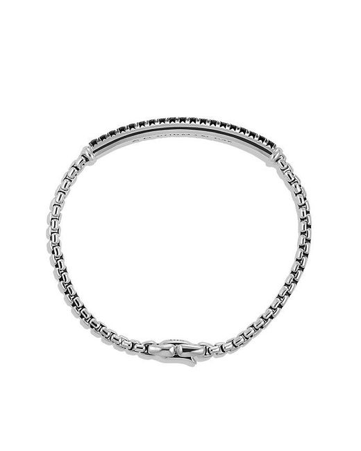 David Yurman | Pavé Box Chain Id Bracelet With Black Diamonds for Men | Lyst