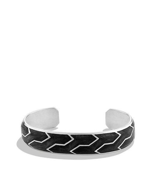 David Yurman | Metallic Forged Carbon Cuff Bracelet for Men | Lyst