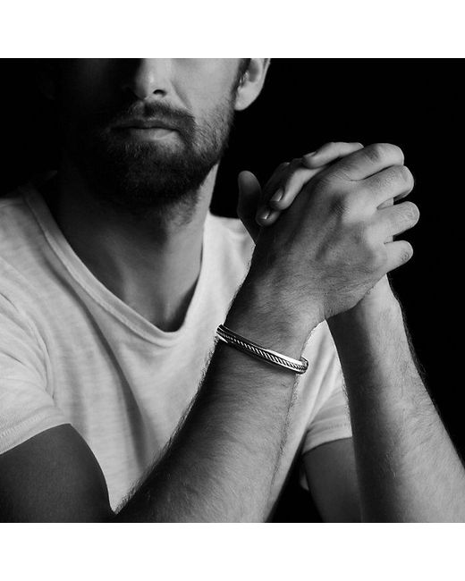 David Yurman   Metallic Cable Classic Cuff Bracelet for Men   Lyst