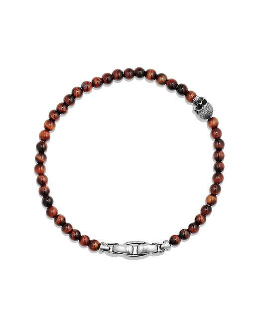David Yurman | Multicolor Spiritual Beads Skull Bracelet With Red Tigers Eye | Lyst