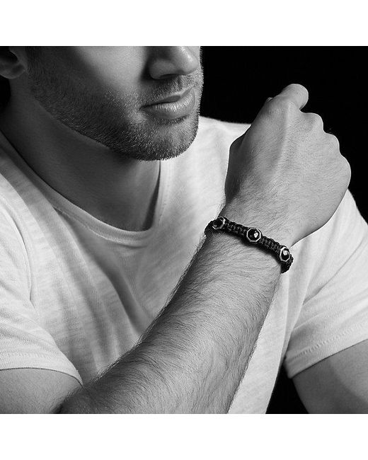 David Yurman   Black Forged Carbon Woven Three-station Bracelet   Lyst