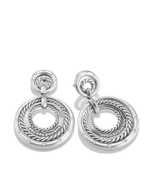 David Yurman | Metallic Stax Drop Earrings With Diamonds | Lyst