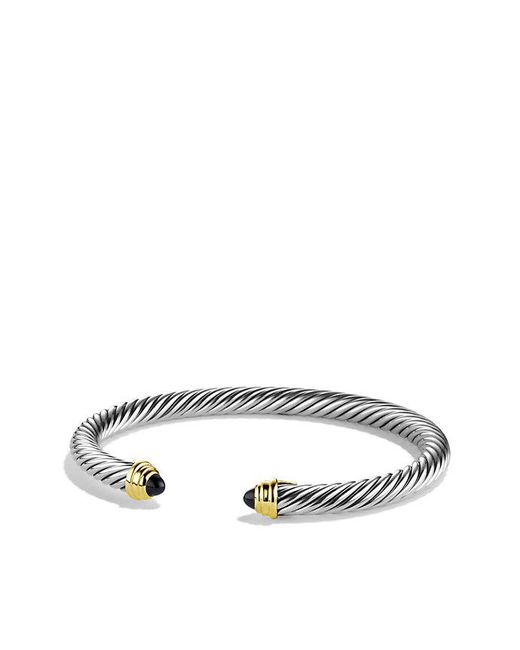 David Yurman - Cable Classics® Bracelet With Black Onyx And 14k Gold, 5mm - Lyst