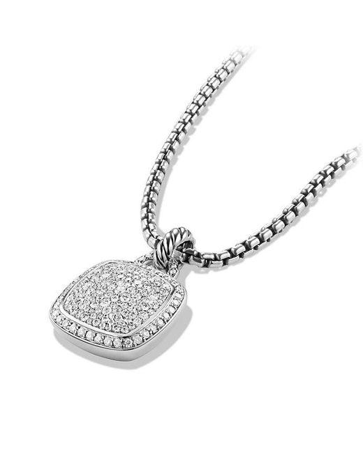 David Yurman - Metallic Albion® Pendant With Diamonds, 14mm - Lyst