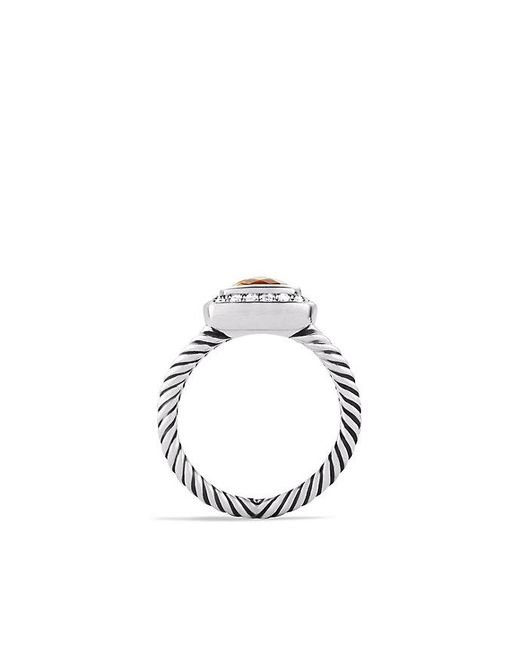 David Yurman | Metallic Petite Albion® Ring With Citrine And Diamonds | Lyst
