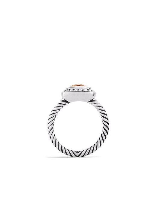 David Yurman - Metallic Petite Albion® Ring With Citrine And Diamonds - Lyst
