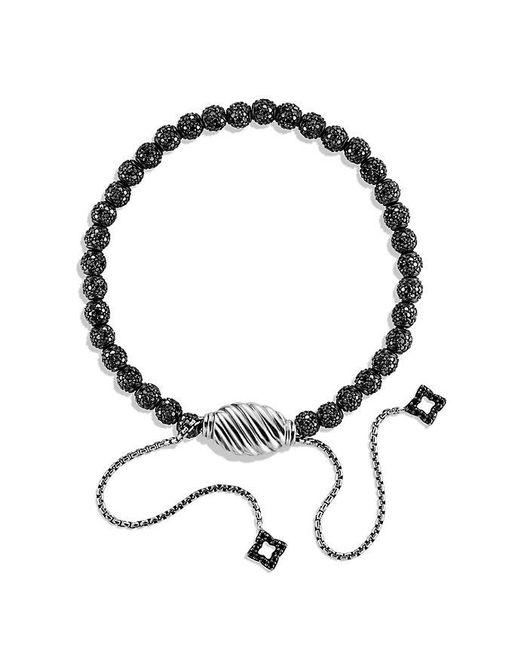 David Yurman - Petite Pave Bracelet With Black Diamonds - Lyst