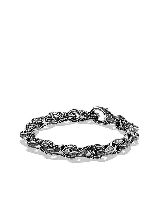 David Yurman | Armory Figure-eight Link Bracelet With Black Diamonds, 9.5mm for Men | Lyst
