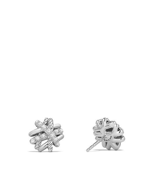 David Yurman | Multicolor Crossover Earrings With Diamonds, 11mm | Lyst