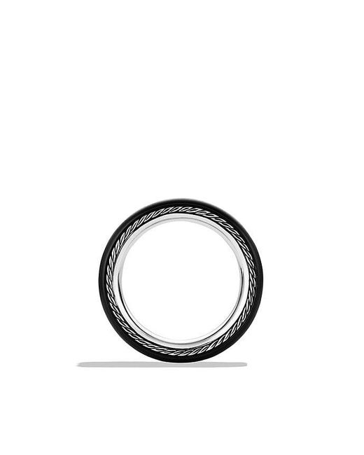 David Yurman - Streamline Wide Band Ring In Black Titanium for Men - Lyst