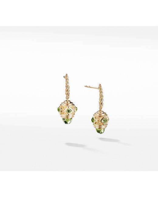 David Yurman - Metallic Renaissance Drop Earrings With Peridot In 18k Gold - Lyst