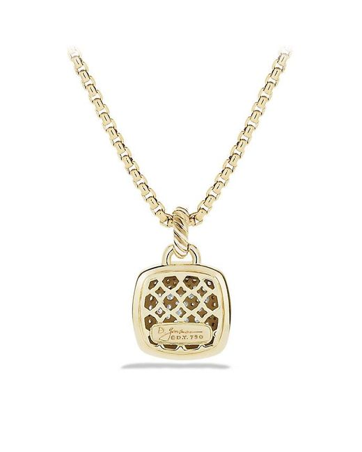 David Yurman - Metallic Albion Pendant With Diamonds In 18k Gold, 14mm - Lyst