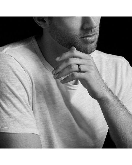 David Yurman | Pink Dy Delaunay Narrow Band Ring In 18k Rose Gold, 4mm for Men | Lyst