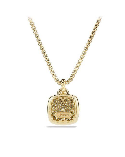 David Yurman - Metallic Albion® Pendant With Diamonds In 18k Gold, 17mm - Lyst