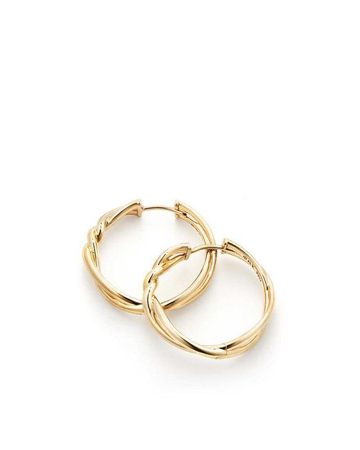 David Yurman | Metallic Continuance® Hoop Earrings In 18k Gold | Lyst