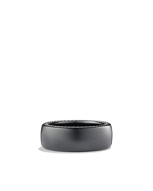 David Yurman - Streamline Wide Band Ring With Black Titanium, 9mm for Men - Lyst