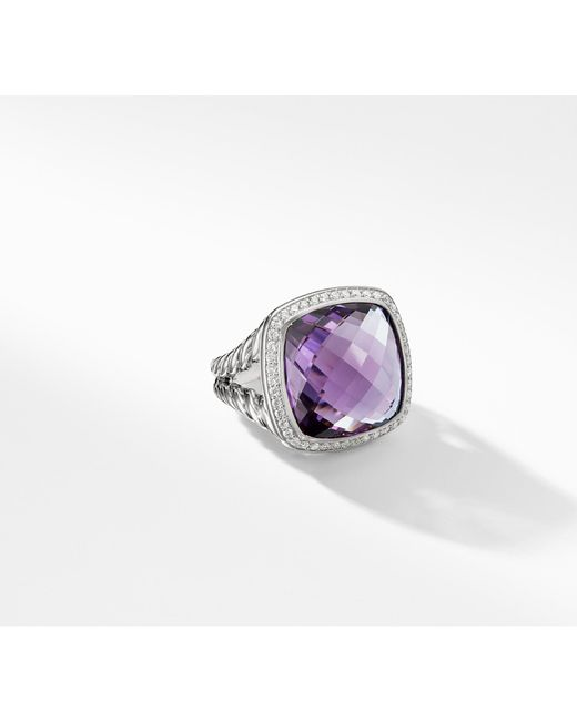 David Yurman - Purple Albion® Ring With Amethyst And Diamonds, 17mm - Lyst