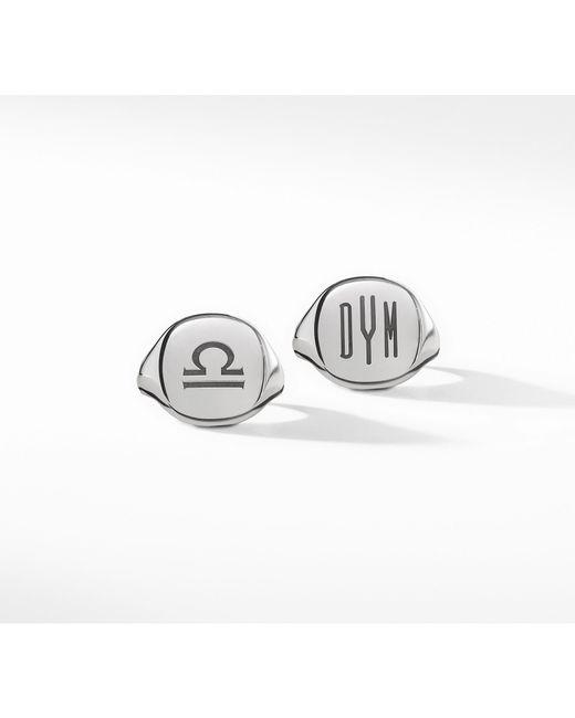 David Yurman - Metallic Engravable Pinky Ring In Sterling Silver - Lyst