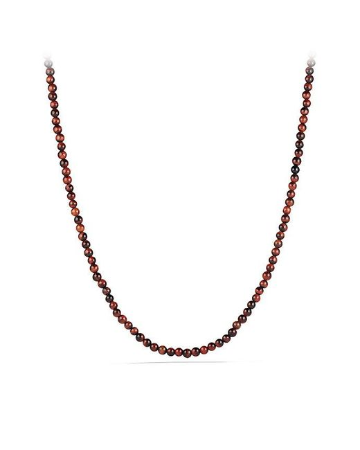 David Yurman - Spiritual Bead Necklace With Red Tiger's Eye for Men - Lyst