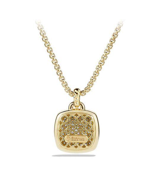David Yurman | Metallic Albion Pendant With Diamonds In 18k Gold, 17mm | Lyst